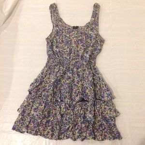 Tommy Girl Floral Ruffled Sleeveless Dress Size M
